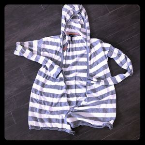 Splendid striped/hooded cardi